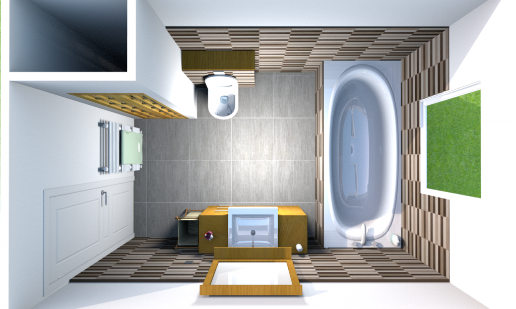Am nagement int rieur salle de bain saint lattier gh bat 39 for Amenagement salle de bain plan